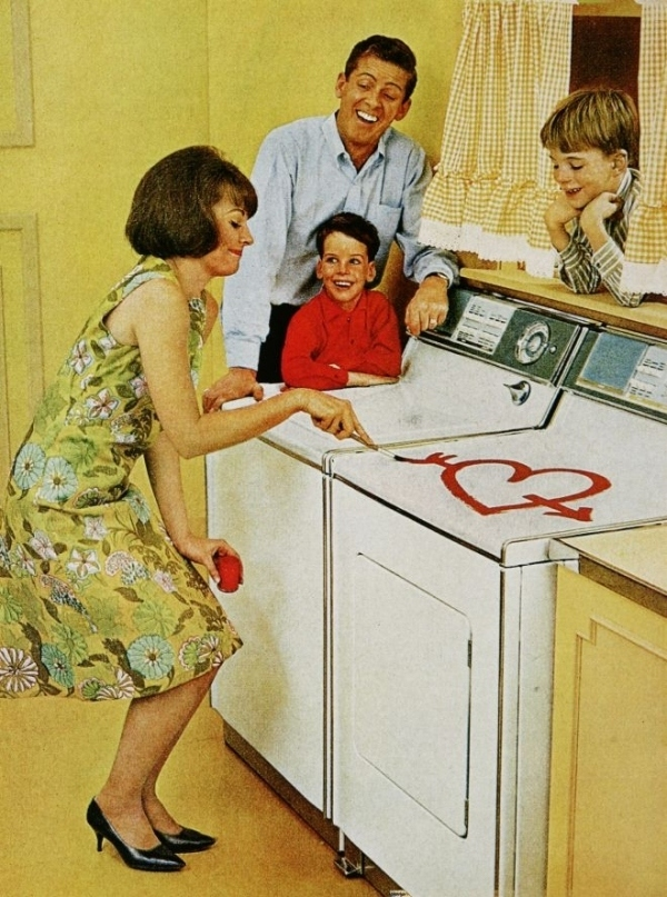 Vintage Sexist Washing Machine Advertisement